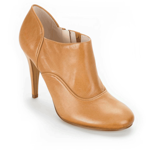 Presia Zip Shootie Women's Heels in Brown
